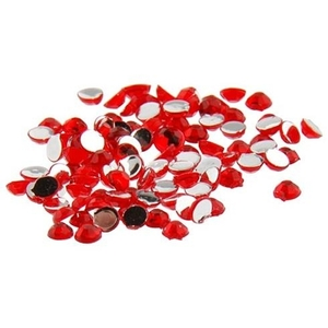 Nail Art Rhinestone - Red 100-Count (520100)
