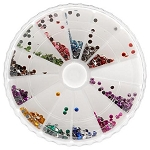 Nail Art Rhinestone Kit - Round Shape 1200-Count (520156)
