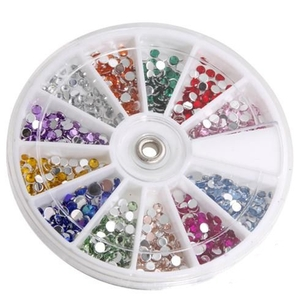 Rhinestone Nail Art Kit - Round Shape Pack of 1200 (520257)