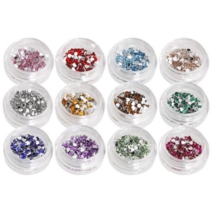 Rhinestone Nail Art Kit - Heart Shape Pack of 1200 (520259)