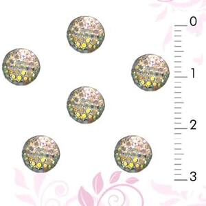 3D Nail Art Designs - Gold Dome Pack of 100 Pieces (520285)