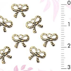 3D Nail Art Designs - Gold Nail Bows Pack of 50 Pieces (520288)