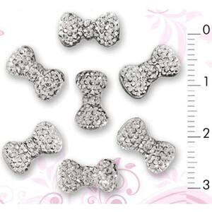 3D Nail Art Designs - Diamond Nail Bow Tie Pack of 20 Pieces (520289)