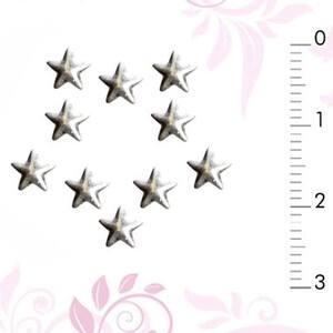 3D Nail Art Designs - Silver Nail Art Star Pack of 40 Pieces (520296)