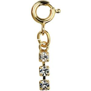 Japanese 3D Nail Art Jewelry - Dangling Charm with Loop Lock - Gold Diamond Strand - Each (520355)