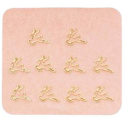 Japanese 3D Nail Charms - Golden Christmas Reindeer - 10 Stickers (520428)