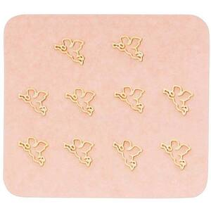 Japanese 3D Nail Charms - Golden Valentine's Day Cupid - 10 Stickers (520430)