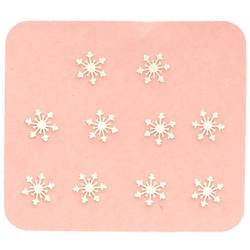 Japanese 3D Nail Charms - Mini Silver Snowflakes - 10 Stickers (520432)
