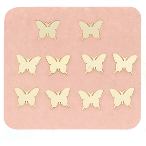 Japanese 3D Nail Charms - Gold Butterfly - 10 pcs (520466)