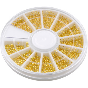 3D Nail Art Caviar Bullion Beads - Assorted Sizes - Gold - Each (520485)
