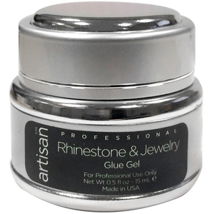 Artisan Nail Jewelry Glue Gel - Strong Adhesive Bonds Rhinestones Charms Gems & More - 0.5 oz (14.79 mL.) (520540)