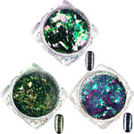 Artisan Chameleon Nail Art Pigment Flakes - Starbright Trio - 3 Pieces (520549)