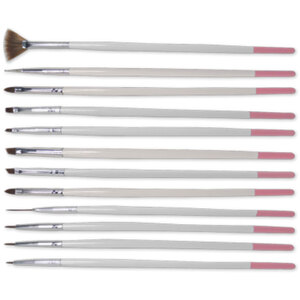Professional Nail Art Brushes 12-Pieces - Most Complete Set for Detailing Work - Set (520556)