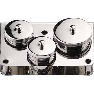 Stainless Steel Dappen Dish 3 Pieces - Maintains Professional Appearance - Set (610128)