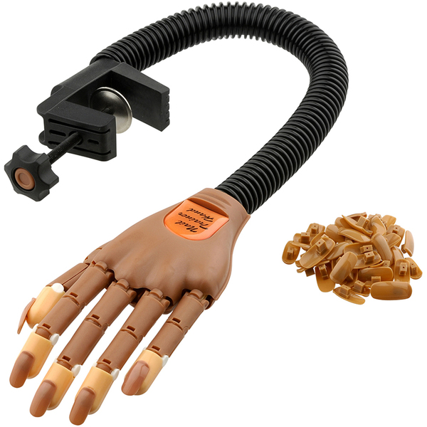 ProTool Practice Nail Trainer Hand - Moveable Fingers - Flexible Arm - Each (610194)
