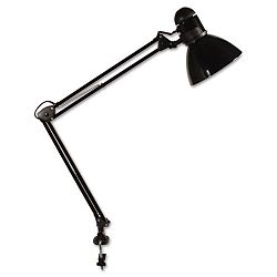 Opti Series Swing Arm Incandescent Lamp 30 Inches Reach Black (LEDL502BK)