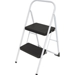 Two-Step Folding Step Stool 225-lb. 17 38w x 18d x 28 18h Platinum (CSC11135CLGG1)