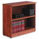 Valencia Series Bookcase 2 Shelves 31-34w x 12-12d x 29-12h Medium Cherry (ALEVA633032MC)