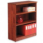 Valencia Series Bookcase 3 Shelves 31-34w x 12-12d x 39-38h Medium Cherry (ALEVA634432MC)