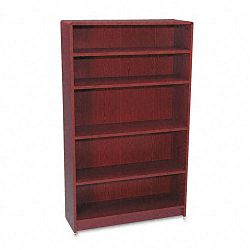 1890 Series Bookcase 5 Shelves 36w x 11-12d x 60-18h Mahogany (HON1895N)