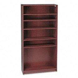 1890 Series Bookcase 6 Shelves 36w x 11-12d x 72-58h Mahogany (HON1896N)