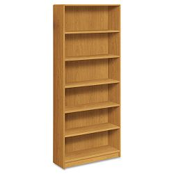 1890 Series Bookcase 6 Shelves 36w x 11-12d x 84h Harvest (HON1897C)