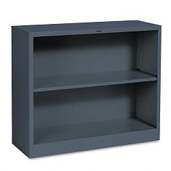 Metal Bookcase 2 Shelves 34-12w x 12-58d x 29h Charcoal (HONS30ABCS)