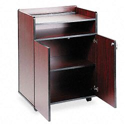 Executive Mobile Presentation Stand 29-12w x 20-12d x 40-34h Mahogany (SAF8919MH)