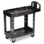 Heavy-Duty Utility Cart 2-Shelf 18w x 39d x 33h Black (RCP450088BK)