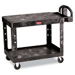Flat Shelf Utility Cart 2-Shelf 26w x 44d x 33-13h Black (RCP452500BK)