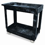ServiceUtility Cart 2-Shelf 16w x 34d x 31-14h Black (RCP9T6600BLA)