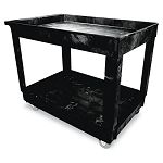 ServiceUtility Cart 2-Shelf 24w x 40d x 31-14h Black (RCP9T6700BLA)