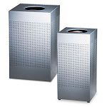 Designer Line Silhouettes Receptacle Steel 16 gal Silver Metallic (RCPSC14EPLSM)
