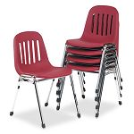Graduate Series Commercial Stack Chairs BurgundyDeluxe Chrome 5Carton (CSC36084BGC5)