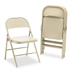 All-Steel Folding Chairs Light Beige 4Carton (HONFC01LBG)