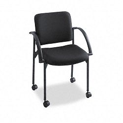 Moto Stacking Chairs Black Fabric Upholstery 2Carton (SAF4184BL)
