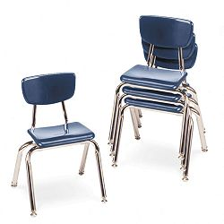 "3000 Series Classroom Chairs 14"" Seat Height Navy 4Carton (VIR301451)"
