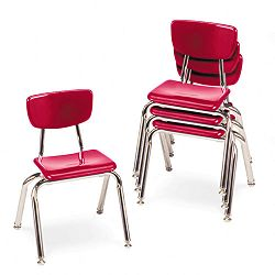 "3000 Series Classroom Chairs 14"" Seat Height Red 4Carton (VIR301470)"