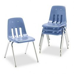 "9000 Series Classroom Chair 18"" Seat Height BlueberryChrome 4Carton (VIR901840)"