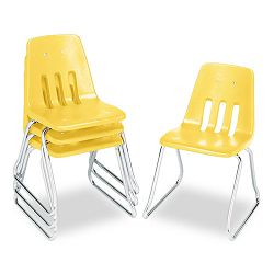 "9600 Classic Classroom Chairs 18"" Seat Height SquashChrome 4Carton (VIR961847)"