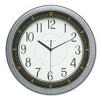 Showtime Wall Clock 13in Charcoal 1 AA Battery (MIL625168)