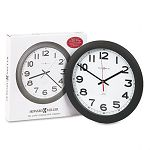Norcross Auto Daylight-Savings Wall Clock 12-14in Black 1 AA (MIL625320)