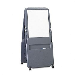 Presentation Flipchart Easel wDry Erase Surface Resin 33wx28dx73h Charcoal (ICE30237)