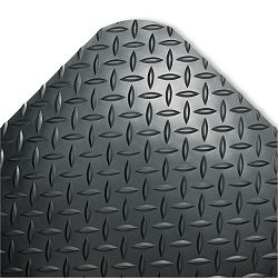 Industrial Deck Plate Antifatigue Mat Vinyl 24 x 36 Black (CWNCD0023DB)
