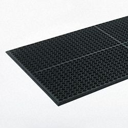 Safewalk-Light Heavy-Duty Antifatigue Mat Rubber 36 x 60 Black (CWNWSCT35BK)