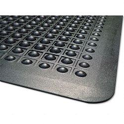 FlexStep Rubber Antifatigue Mat Polypropylene 24 x 36 Black (MLL24020300)