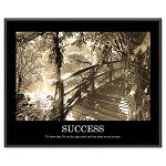 """Success"" Framed Sepia Tone Motivational Print 30 x 24 (AVT78161)"