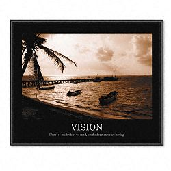 """Vision"" Framed Sepia-Tone Motivational Print 30 x 24 (AVT78163)"