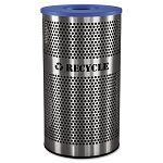 Stainless Steel Recycle Receptacle; 33 gal; Stainless Steel (EXCVCR33PERFS)