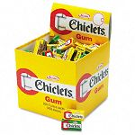 Chiclets Chewing Gum Peppermint or Spearmint 2 Pieces per Pack 200 Packs per Box (CDB10849)